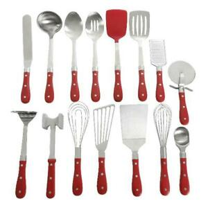 The Pioneer Woman Frontier Collection 15-Piece All in One Kitchen Utensil Set, R