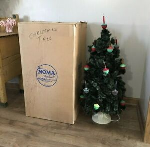 Vintage NOMA Bubble Light Christmas Tree 32 20 Socket Original Box Working