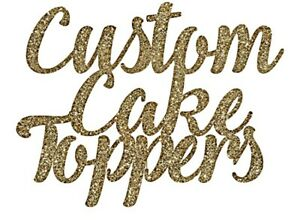 Personalized Custom Cake Topper. Handmade. Wedding/Graduation/Birthday/Baptism