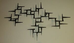 Rare Abstract Metal wall Sculpture signed by Corey Ellis Art Work William Bowie $199.99