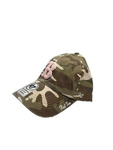 Boston Red Sox Officially Licensed '47 Adjustable Hat Camouflage with Pink B