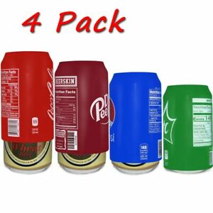 Beer can covers 4 pack, silicone beverage sleeve hide a beer that look like soda