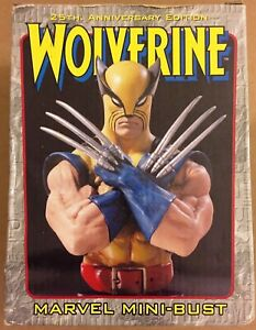 Wolverine 25th Anniversary Gold Mini Bust AP 7000 Bowen Designs Marvel 2000 $39.99