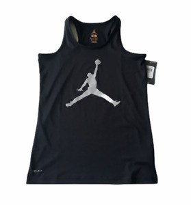 AIR JORDAN NIKE DRI FIT GIRLS YOUTH JUMPMAN RACER BACK TANK TOP SHIRT XL 16 NEW $15.99