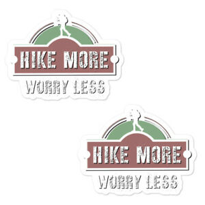 Hike more worry less decal Outdoor Hike Outdoors Adventure Camping decal