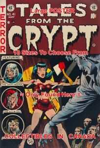 TALES FROM THE CRYPT 1954 Knife Throwing = POSTER Comic Book 10 SIZES 17 - 36
