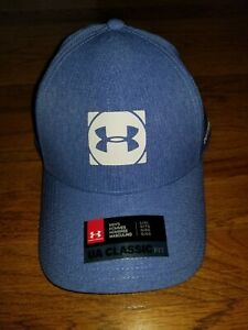 Under Armour Men's Official Tour Golf Fitted Hat NWT Blue Sz L XL Free Shipping $18.99