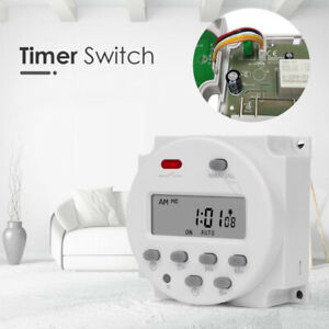 Programmable Electronic Time Timer 12 Volt Digital Timer Switch Weekly DC