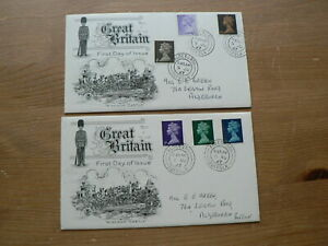 1967 Pre decimal Definitve First Day Covers x2 Windsor Castle