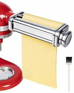 Stainless Steel Pasta Maker Roller Attachment Compatible KitchenAid Stand Mixers