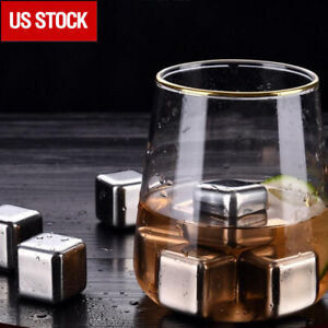 8 pcs WHISKEY STONES scotch beer rocks drink cooler ice cubes Keeps it cold!!!