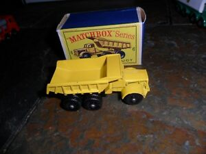 Matchbox #6 Euclid Quarry Dump Construction Truck & Original Box CALJEFF