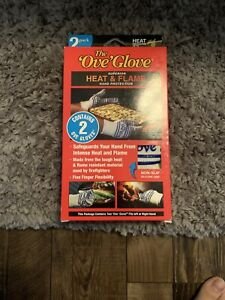 The Ove Glove Superior Heat and Flame  Hand Protection - White/Blue Brand New