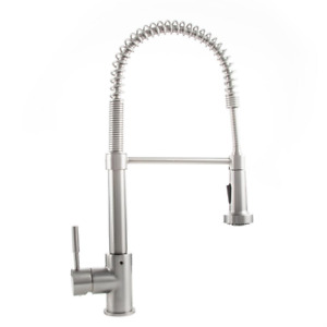 Apollo Single-Handle Pull-Down Sprayer Kitchen Faucet in Stainless Steel