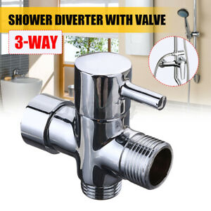 7/8'' T-Adapter 3-Way Brass Shower Diverter With Valve For Toilet Bidet Sprayer