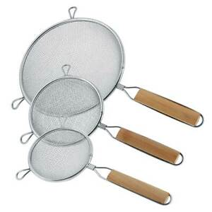 U.S. Kitchen Supply 3 Fine Double Mesh Stainless Steel Strainers 4.5