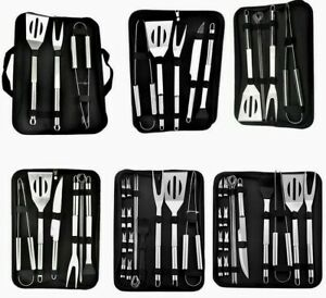 BBQ Grill Tool Set Stainless Steel Cooking Outdoor Camping Picnic Utensils