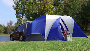 Large camping tent 5 person attach car SUV season family size folding outdoor