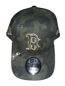 Boston Red Sox New Era 39thirty LXL Armed Forces Day Green Camo Fitted Hat
