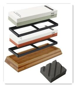 Knife Sharpening Stone Kit Premium Japanese Whetstone Set 400/1000 3000/8000 new