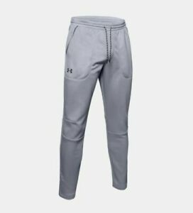 NWT MENS UNDER ARMOUR 1345280 011 LOOSE MK 1 WARM UP GRAY PANT $60 $23.95