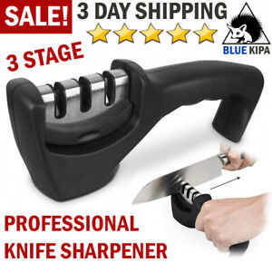 KNIFE SHARPENER 3 Stage FAST Blade Restore Renew Kitchen Knives Sharpening Tool