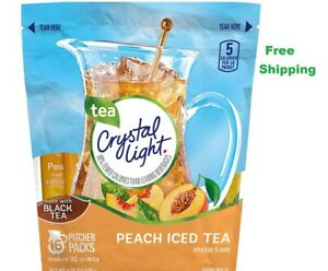 Crystal Light Peach Iced Tea Mix 16 ct  Free Shipping