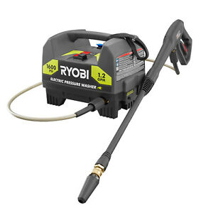 1600 PSI ELECTRIC PRESSURE WASHER RYOBI 1.2 GPM Power Washer with Turbo Nozzle $89.97