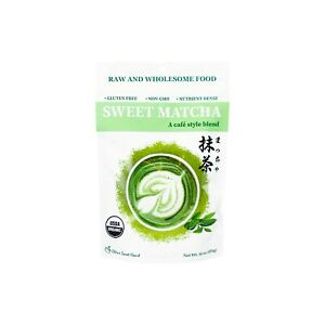 Organic Sweet Matcha Green Tea Powder Cafe Style Blend 16 oz
