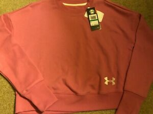 NWT Girls Pink Under Armour Sweatshirt Size Medium $14.99