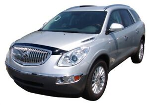 AVS 08 12 for Buick Enclave Aeroskin Low Profile Acrylic Hood Shield Smoke
