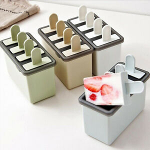 Kitchen DIY Pop Popsicle Mold Maker Silicone Tray Pan Frozen Ice Cream Maker