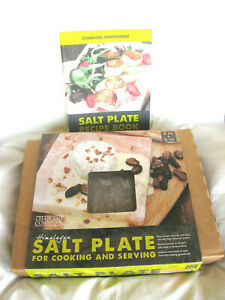 Himalayan Salt Plate Block Grilling Stone Cooking And Serving Plus Recipe Book