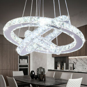 Modern Chandelier LED Crystal Pendant Lamp Round Ceiling Light Hanging Light