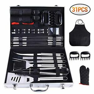 31PCS BBQ Tool Set, Grill Accessories Set Stainless Steel, Barbecue Grill Ohuhu