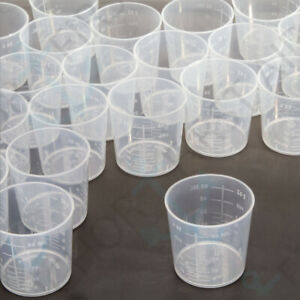 50Pcs 2oz Plastic Measuring Cup Set 60ml Pots-Liquid For Kitchen Laboratories #S