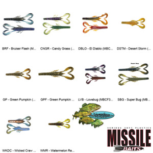 Missile Baits Craw Father 3.5 Inch Any 10 Colors MBCF35 Crawdad Fishing Lures