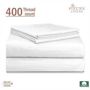 WHITE TWIN XL SHEET SET 100% COTTON TWIN XL SHEET SET BED SHEETS SET COTTON 3 PC
