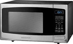 Compact Microwave 0.9 Cu. Ft. One-touch Buttons Electronic Controls LED Display