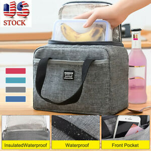 Insulated Lunch Bag Box Soft Cooler Waterproof Thermal Work School Picnic