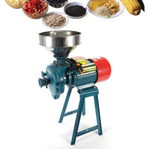 Electric Mill Grinder Heavy Duty Commercial Electric Feed Mill Dry Grinder 110V