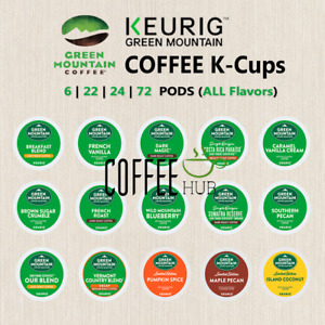 Green Mountain Coffee Pod K-Cups 6 22 24 72 Count Capsule lot All Flavors KEURIG