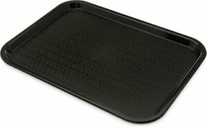 Fast Food Tray Home Canteen Cafeteria Kitchen Food Serving Plate Black 12 x16 No