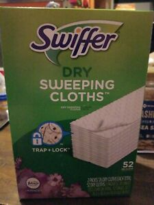 Swiffer Dry Sweeping Pad Refills, Multi Surface, Lavender Febreze (52 Count)