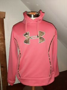 Under Armour Pink With Camo Detail Youth Girls Hoodie $2.55