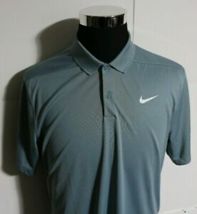 Men's Nike Dri Fit Golf Polo Shirt Gray Large MSRP $55.00 $10.50