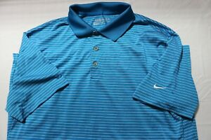 Men's Nike Dri Fit tour performance Golf Polo Shirt Blue Large MSRP $55.00 $0.99