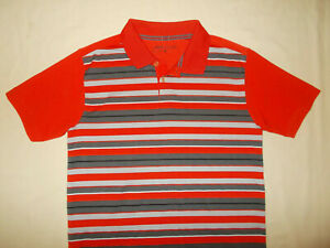 NIKE GOLF DRI FIT SHORT SLEEVE STRIPED POLO SHIRT BOYS LARGE EXCELLENT CONDITION $2.29