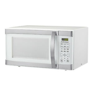 White Stainless Steel 1.1 Cu.Ft Digital Microwave Oven Home Kitchen Countertop