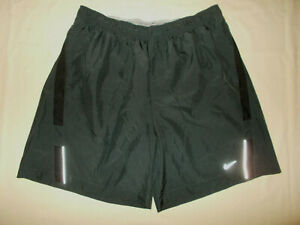 NIKE DRI FIT DARK GRAY REFLECTIVE RUNNING SHORTS WITH LINER MENS XL EXCELLENT $5.50